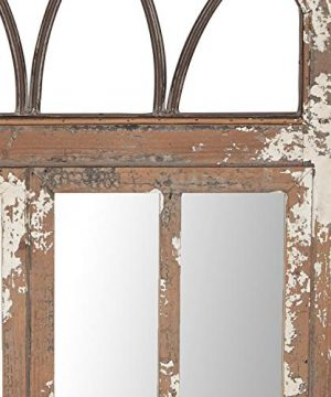 Deco 79 Wall Mirrors Large Black Brown White 0 1 300x360