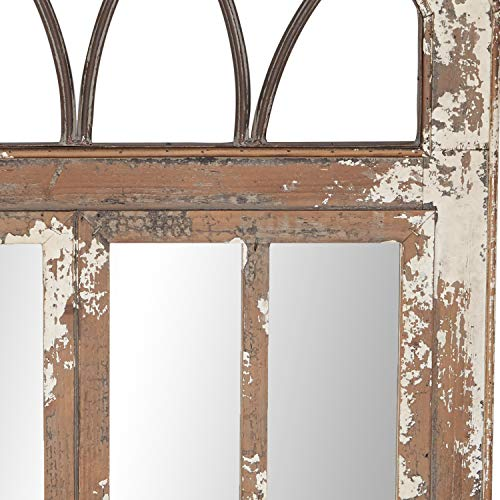 Deco 79 Wall Mirrors Large Black Brown White 0 1