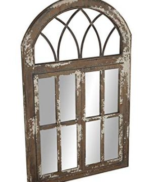 Deco 79 Wall Mirrors Large Black Brown White 0 2 300x360