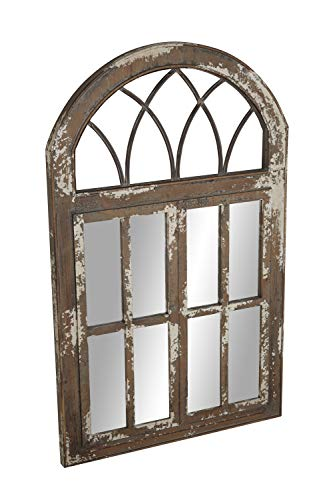 Deco 79 Wall Mirrors Large Black Brown White 0 2