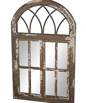 Deco 79 Wall Mirrors Large Black Brown White 0 3 300x360