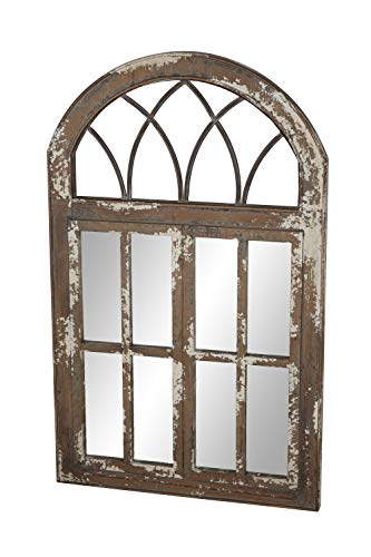 Deco 79 Wall Mirrors Large Black Brown White 0 3