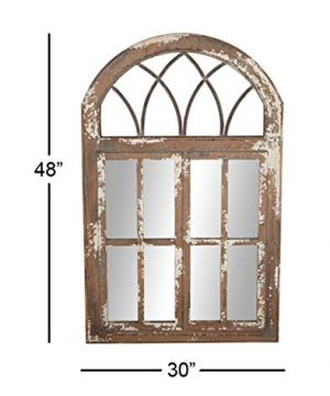 Deco 79 Wall Mirrors Large Black Brown White 0 4 300x360