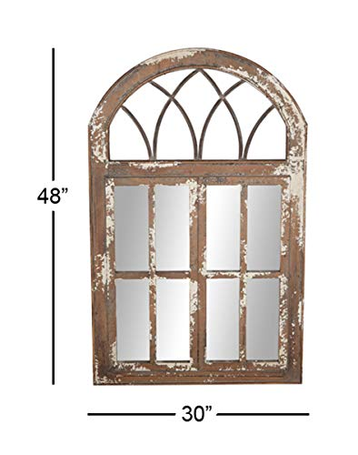Deco 79 Wall Mirrors Large Black Brown White 0 4