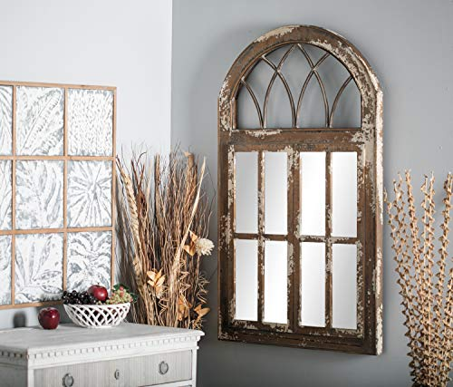 Deco 79 Wall Mirrors Large Black Brown White 0