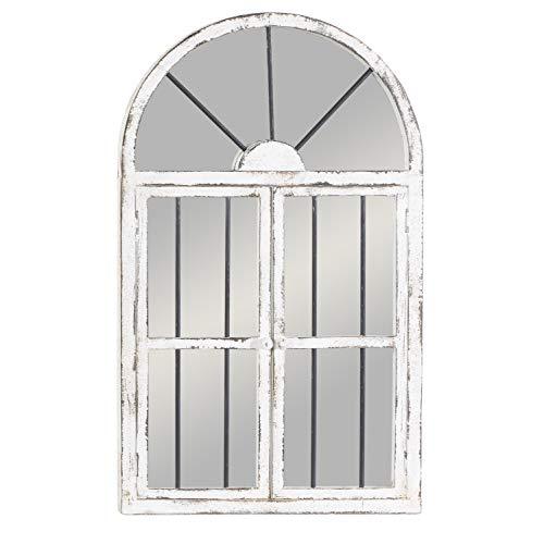 Deco 79 Wood Window Mirror 42 By 25 0 0