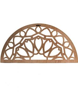 Distressed Wood Half Moon Cut Out Architectural Wall Decor 0 0 300x360