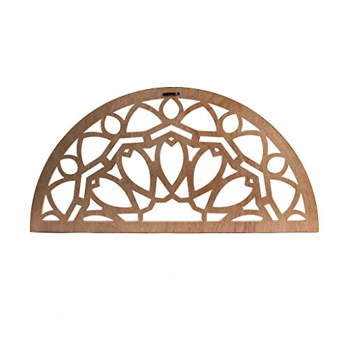 Distressed Wood Half Moon Cut Out Architectural Wall Decor 0 0