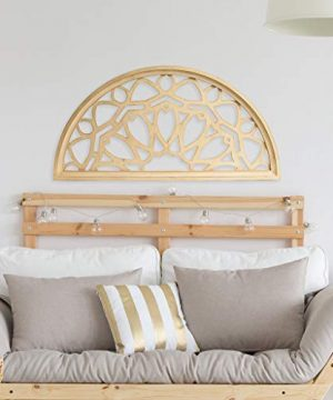 Distressed Wood Half Moon Cut Out Architectural Wall Decor 0 2 300x360