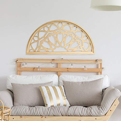 Distressed Wood Half Moon Cut Out Architectural Wall Decor 0 2