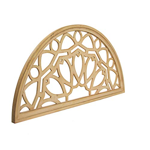 Distressed Wood Half Moon Cut Out Architectural Wall Decor 0 3