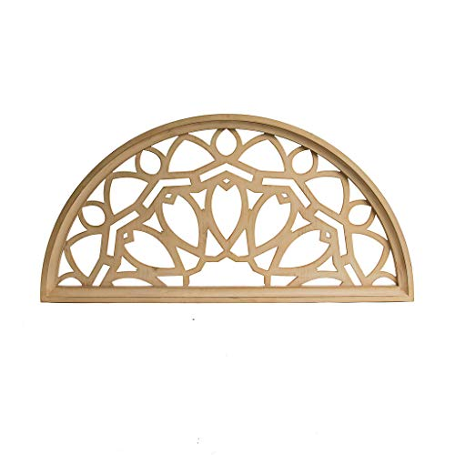 Distressed Wood Half Moon Cut Out Architectural Wall Decor 0