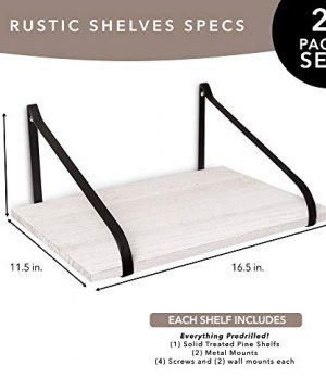 East World Floating Shelves Set Of 2 Rustic Shelves Wall Mounted Rustic White 0 0 300x360