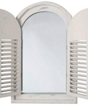 Esschert Design White Window Frame WFrench Doors 0 300x360