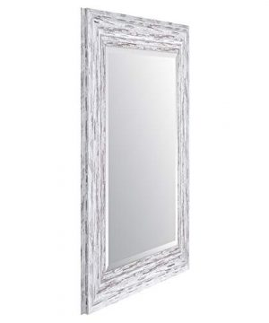 Everly Hart Collection Scoop Beveled Wall Mounted Accent Mirror 16 X 20 White 0 0 300x360