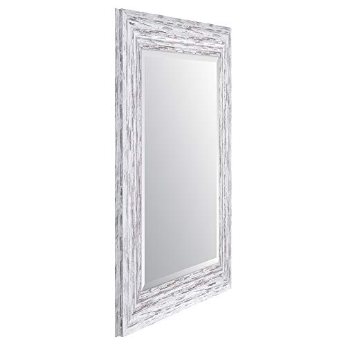 Everly Hart Collection Scoop Beveled Wall Mounted Accent Mirror 16 X 20 White 0 0