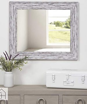 Everly Hart Collection Scoop Beveled Wall Mounted Accent Mirror 16 X 20 White 0 3 300x360