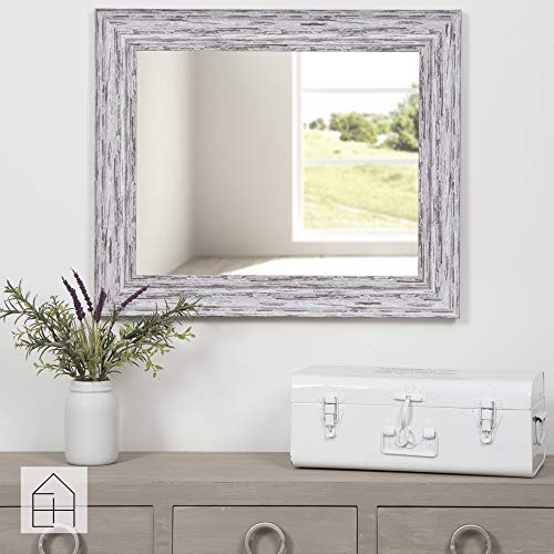 Everly Hart Collection Scoop Beveled Wall Mounted Accent Mirror 16 X 20 White 0 3
