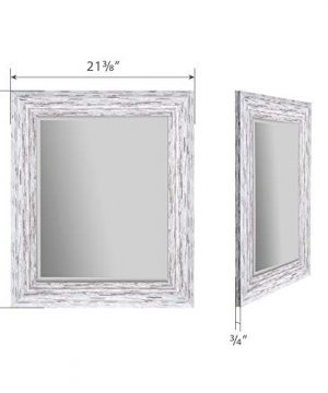 Everly Hart Collection Scoop Beveled Wall Mounted Accent Mirror 16 X 20 White 0 4 300x360