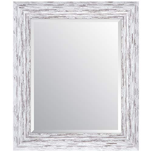 Everly Hart Collection Scoop Beveled Wall Mounted Accent Mirror 16 X 20 White 0