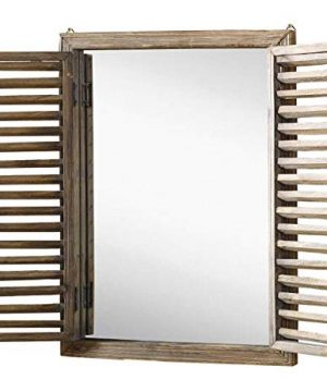 Farmhouse Decor Mirror With Frame Rustic Mirror With Wooden Frame And Shutter Design Product SKU SZ 7888 0 300x360