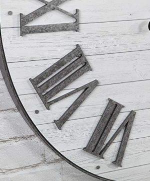 FirsTime Co Emmett Shiplap Wall Clock 27 Galvanized Silver White 0 1 300x360