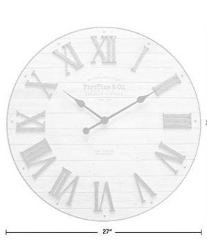 FirsTime Co Emmett Shiplap Wall Clock 27 Galvanized Silver White 0 2 300x360