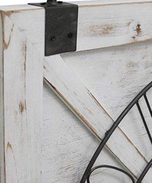 FirsTime Co Farmstead Barn Door Wall Clock 29H X 27W Whitewash Metallic Gray Black 0 1 300x360