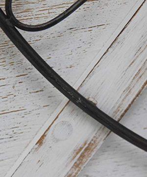 FirsTime Co Farmstead Barn Door Wall Clock 29H X 27W Whitewash Metallic Gray Black 0 2 300x360