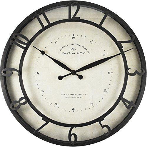 FirsTime Co Kensington Whisper Wall Clock 18 Oil Rubbed Bronze 0 0