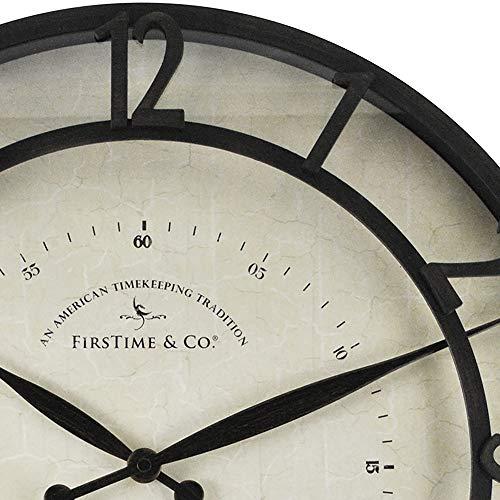 FirsTime Co Kensington Whisper Wall Clock 18 Oil Rubbed Bronze 0 1