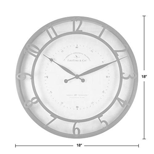 FirsTime Co Kensington Whisper Wall Clock 18 Oil Rubbed Bronze 0 2