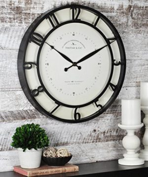 FirsTime Co Kensington Whisper Wall Clock 18 Oil Rubbed Bronze 0 300x360