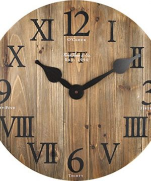 FirsTime Co Rustic Barn Wall Clock 18 Natural Wood 0 0 300x360