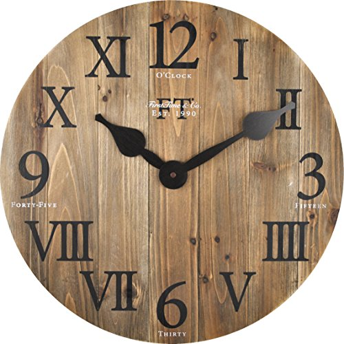 FirsTime Co Rustic Barn Wall Clock 18 Natural Wood 0 0