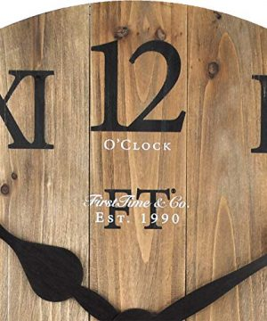 FirsTime Co Rustic Barn Wall Clock 18 Natural Wood 0 1 300x360