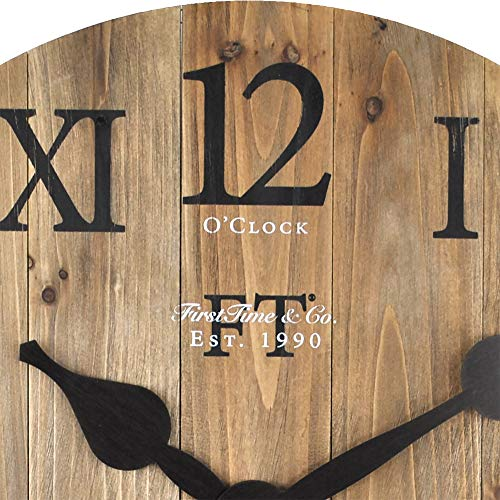 FirsTime Co Rustic Barn Wall Clock 18 Natural Wood 0 1