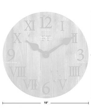 FirsTime Co Rustic Barn Wall Clock 18 Natural Wood 0 2 300x360