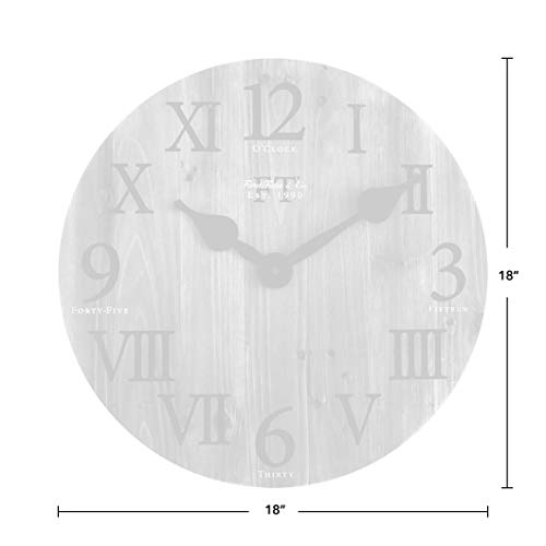 FirsTime Co Rustic Barn Wall Clock 18 Natural Wood 0 2