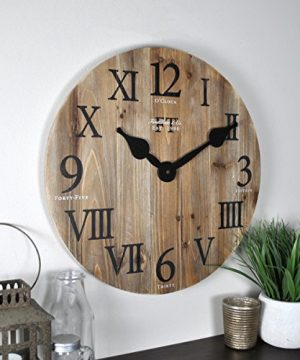 FirsTime Co Rustic Barn Wall Clock 18 Natural Wood 0 300x360