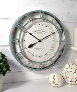 FirsTime Co Timeworn Aqua Wall Clock 11 Turquoise 0 300x360