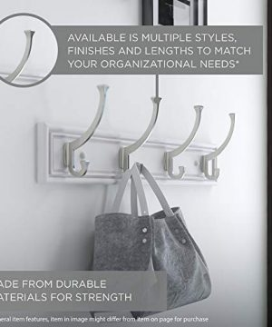 Franklin Brass FBHDCH4 WSE R 16 Hook Rail Rack With 4 Heavy Duty Coat And Hat Hooks In White Satin Nickel 0 3 300x360