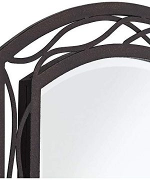Franklin Iron Works Woven Bronze 24 X 35 12 Metal Wall Mirror 0 1 300x360