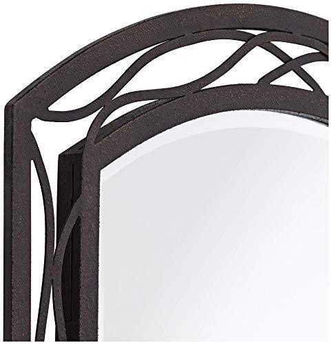 Franklin Iron Works Woven Bronze 24 X 35 12 Metal Wall Mirror 0 1