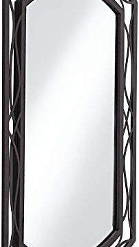 Franklin Iron Works Woven Bronze 24 X 35 12 Metal Wall Mirror 0 2 202x360