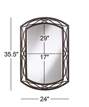 Franklin Iron Works Woven Bronze 24 X 35 12 Metal Wall Mirror 0 3 300x360