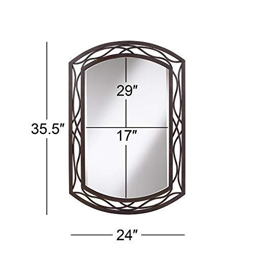 Franklin Iron Works Woven Bronze 24 X 35 12 Metal Wall Mirror 0 3