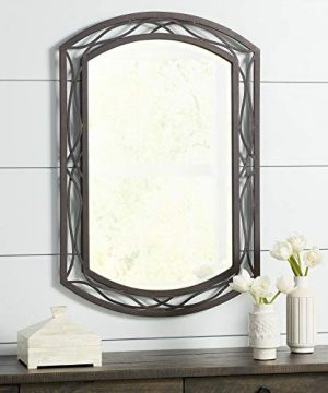 Franklin Iron Works Woven Bronze 24 X 35 12 Metal Wall Mirror 0 300x360