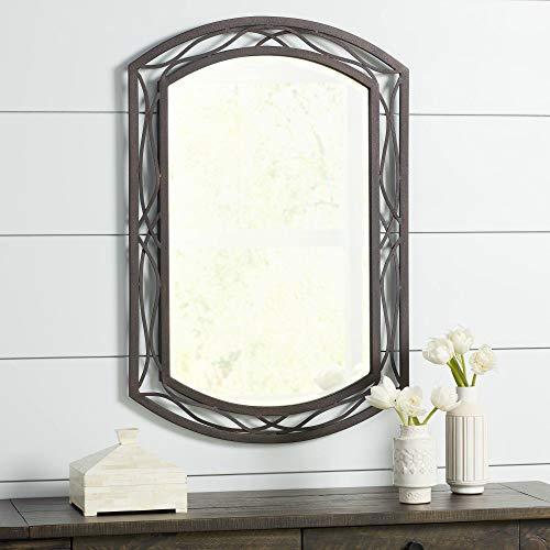 Franklin Iron Works Woven Bronze 24 X 35 12 Metal Wall Mirror 0