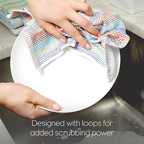 Full Circle Tidy 100 Organic Cotton Dish Cloths Set Of 3 Grayscale 0 2